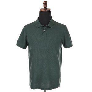 Men's OUTERKNOWN Hemp Cotton Short Sleeve Polo Shirt - Green - Size Medium